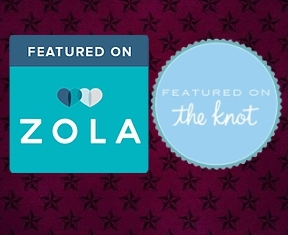 Featured on Zola and The Knot wedding websites